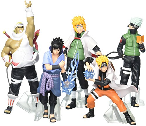 Generic Lujex Naruto Uzumaki Kakashi Sasuke PVC Figure (Set of 5)