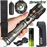 5000LM 5-Mode Waterproof Flashlight Kit Tactical XM-L T6 LED Zoomable Torch Lamp+Battery+Charger