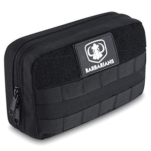 Barbarians Tactical Admin Pouch Military MOLLE Pouch for Tools Map Magazine Black