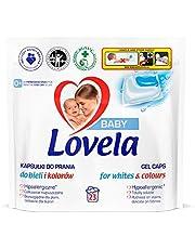 Lovela Baby 0+ Kapsułki do prania białych i kolorowych tkanin, ubranek i pieluszek dziecięcych 23szt.
