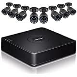 TRENDnet 8-Channel HD CCTV DVR Surveillance Kit with Pre-Installed 1 TB HDD and 8 x 1080p HD IR IP66 Analog CCTV Cameras, SATA I/II, IPv6, TV-DVR208K