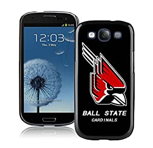 NCAA Ball State Cardinals 2 Black Customize Samsung Galaxy S3 I9300 Phone Cover Case