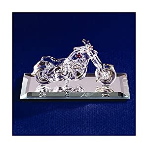 Jewelry Best SellerMotorcycle with Crystal Accents Glass Figurine