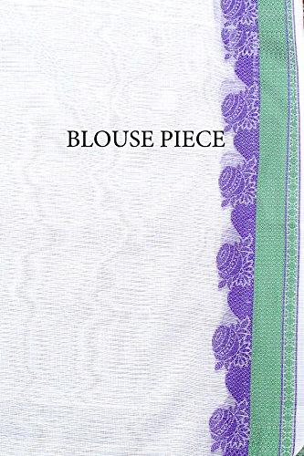 Chandrakala Women's White Supernet Cotton Banarasi Saree(1278WHI) by Chandrakala (Image #6)