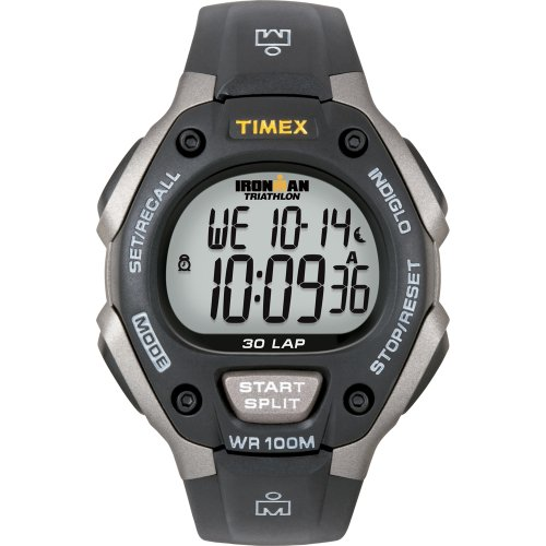 Timex Men's T5E901 Ironman Classic 30 Gray/Black Resin Strap Watch ()