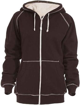 Amazon.com: Berne Women's Zip-Front Hooded Sweatshirt - Wsz113plmr ...