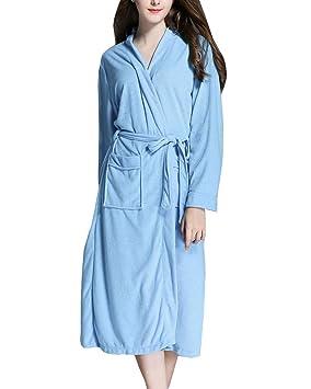 LaoZanA Mujer Kimono Batas Albornoz Ducha Suave Cómodo: Amazon.es: Deportes y aire libre