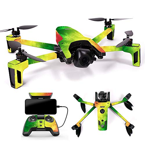 MightySkins Skin for Parrot Anafi Drone - Rasta Rainbow | Protective, Durable, and Unique Vinyl Decal wrap Cover | Easy to Apply, Remove, and Change Styles | Made in The USA