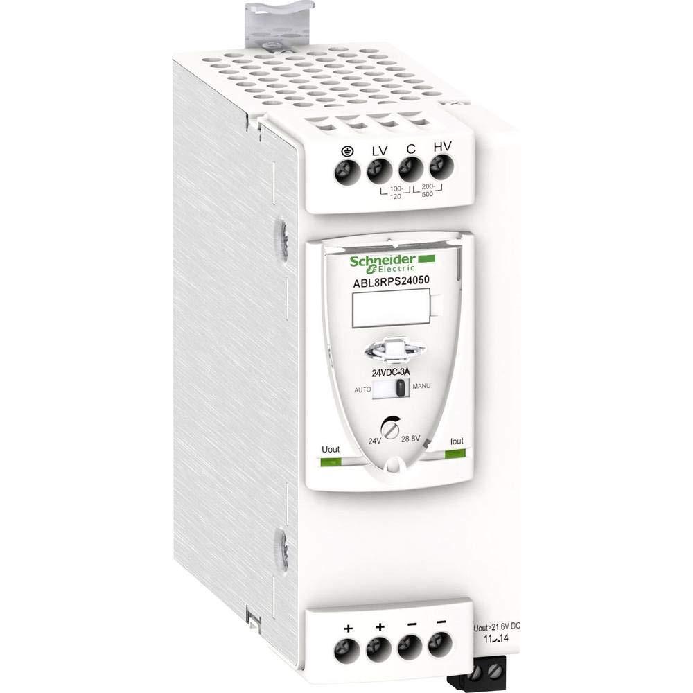 Schneider Electric ABL8RPS24050 Fuente De Alimentación Conmutada Modular, 1 O 2 Fases, 200-500 V, 24 V, 5 A
