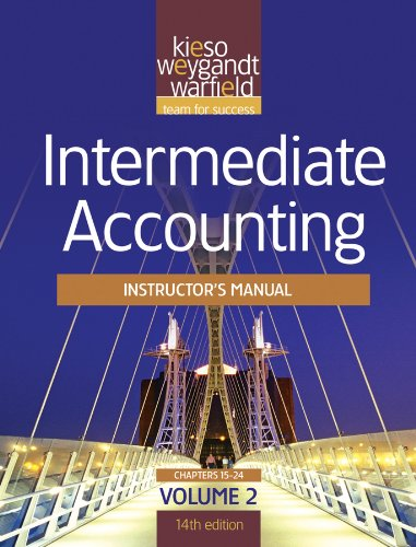 Intermediate Accounting Instructor's Manual Volume 2 14th Edition