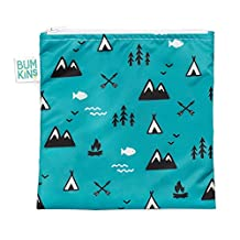 Bumkins Reusable Snack Bag, Large, Outdoors