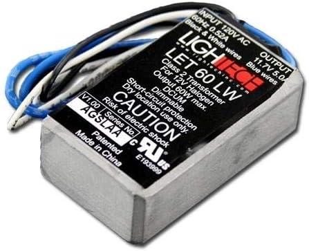 GE 66938 - 60 watt Output 120 volt Input Electronic Halogen Transformer (GELT60A12012LW 66938)