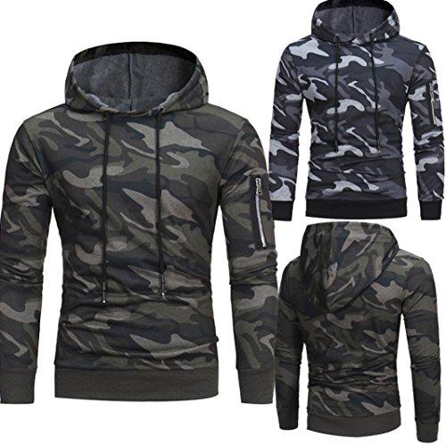 manadlian Veste Homme,Sweats à Capuche Hommes Camouflage Hoodie Sweat à Capuche Tops Veste Manteau Outwear À Manches… 5