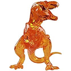 General 3D Crystal Puzzle - Deluxe T-Rex Dinosaur Puzzle Educational Toy Building Blocks Set For Kid(Gold)