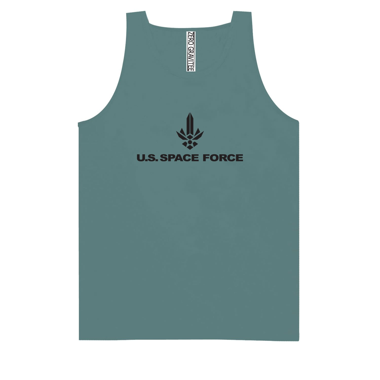 United States Space Force Logo 2 Adult Pigment Dye Tank Top