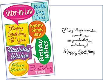 Enjoyable Amazon Com Prime Greetings Happy Birthday Greeting Card Sister Funny Birthday Cards Online Fluifree Goldxyz