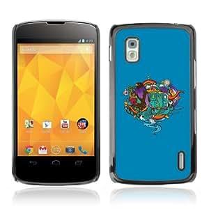 Designer Depo Hard Protection Case for LG Nexus 4 E960 / Cool Abstract Tattoo Graphiti
