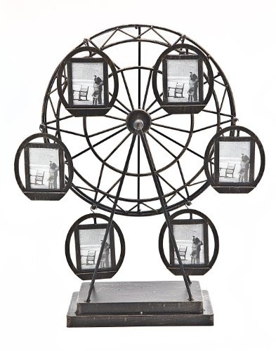 Philip Whitney Rotating Ferris Wheel Six 2x3 Picture Frame