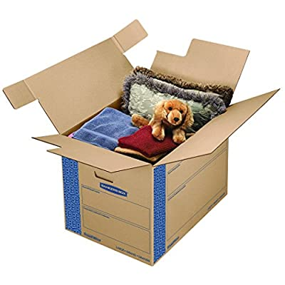Bankers Box 0062901 SmoothMove Prime Moving Boxes, Large (Pack of 6)