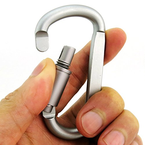 Outmate 6 pcs Aluminum D-ring Locking Carabiner
