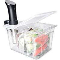 Everie Sous Vide Container 12 Quarts with Universal Collapsible Hinged Lid, Compatible with Anova All Models, Breville…