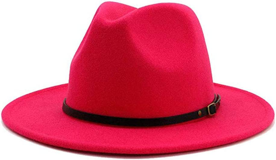 Rubyyouhe8 Hat Set,Head Decor Vintage Solid Color Felt Wide Brim Bowler Fedora Hat Winter Floppy Women Cap
