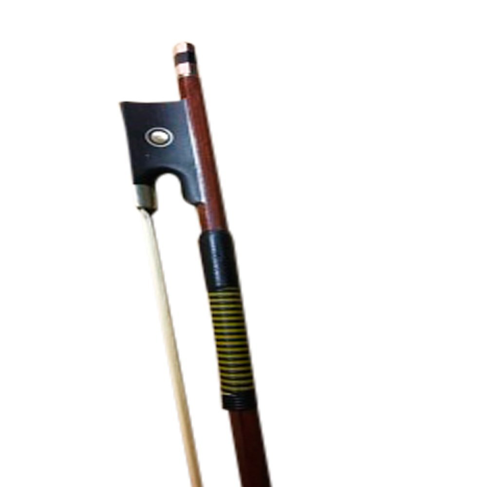 Archetto Zest di qualità per violino da studio di dimensione intera o tre quarti, interamente montato, in pernambuco 4/4 Full Size black Violin Bow