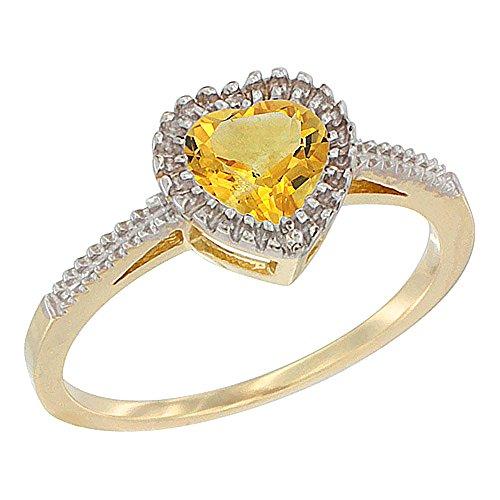 14K Yellow Gold Natural Citrin