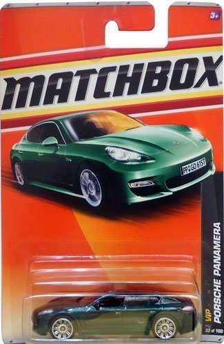 Matchbox 2011 Porsche Panamera #33/100 (Dark Metallic Green), Vip #2/6 Mattel