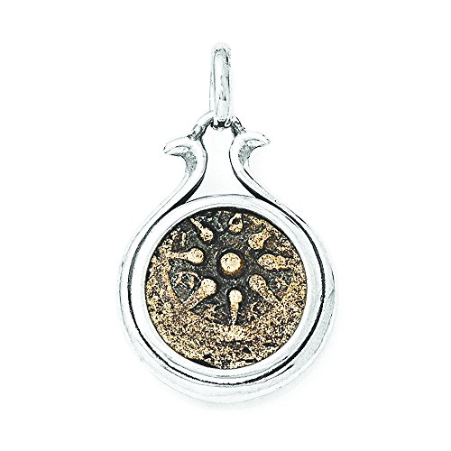 - Sterling Silver & Bronze Antiqued Widows Mite Coin Pendant
