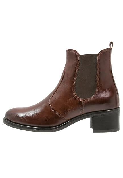 nouveaux produits chauds le prix reste stable nouvelle arrivee PIER ONE Bottes Chelsea pour Femmes avec Petit Talon compensé - Bottines en  Cuir élégantes - Boots Sport Chic en Style Jodhpur avec Insert élastique