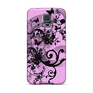 High Quality Cell-phone Hard Cover For Samsung Galaxy S5 (euv12510lAoo) Provide Private Custom Beautiful Butterfly Floral Abstract Skin