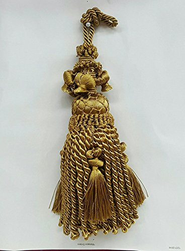 Armoire Cotton (Decorative 8 inch Old Gold Key Tassel or Armoire Tassel)
