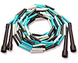Beaded Double Dutch Jump Ropes - Hand Made in USA (Black/White/Turquoise)