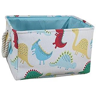 Large Waterproof Storage Bin Lightweight Organizer Basket for Laundry Hamper,Toy Bins,Gift Baskets,Dirty Clothes, College Dorms, Kids Bedroom,Bathroom (Thick Dinosaur)