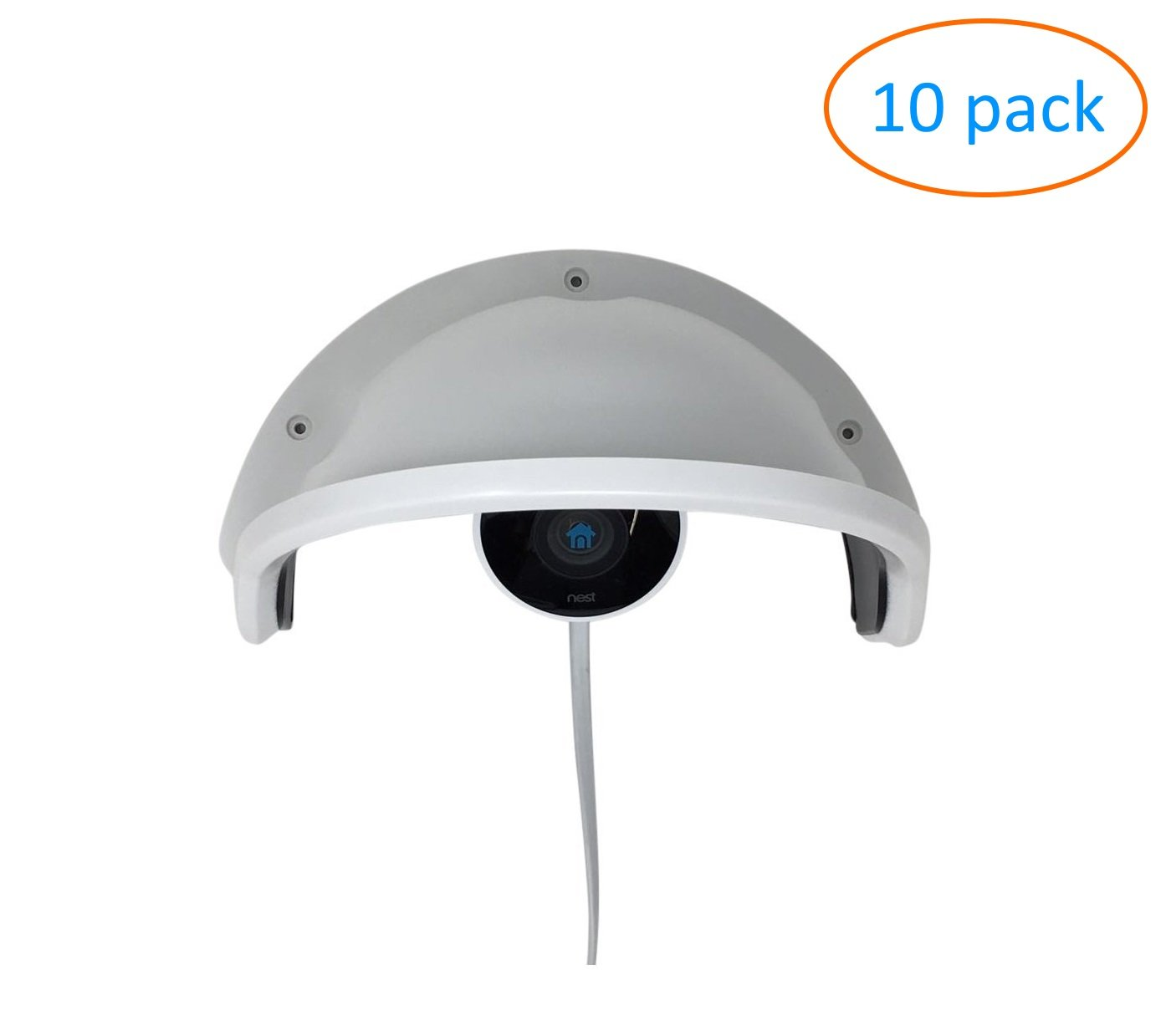 Kenuco Universal Rain Shade Sun Shield for Outdoor Nest Cam - 10 Pack