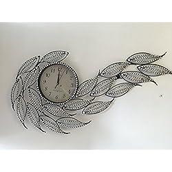Wall Clock Large Metal Crystal Decorative Two way Hanging (metal,crystal)