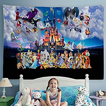 ORTIGIA Kids Children Tapestry Wall Hanging Home Decor Sea Animal Theme for Bedroom, Kids Room, Living Room, Dorm Polyester Fabric Needles Included- 80