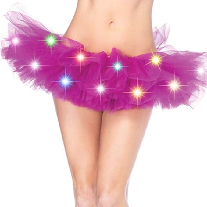 Tutú falda neón con luces led