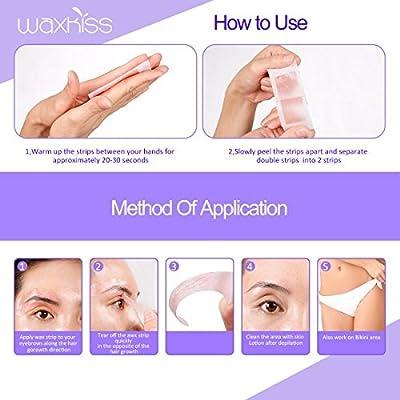 Waxkiss Eyebrows Wax Strips Cold Waxing Strip for Eyebrow Hair