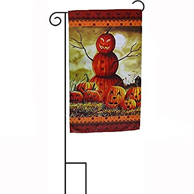 """12x18 12""""x18"""" Happy Halloween Jack O Lantern Man Sleeved w/ Garden Stand Flag House Banner Double Stitched Fade Resistant Premium Quality"""