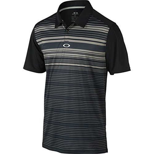 Oakley Men's Legacy Polo, Jet Black, - Oakley Golf Gear