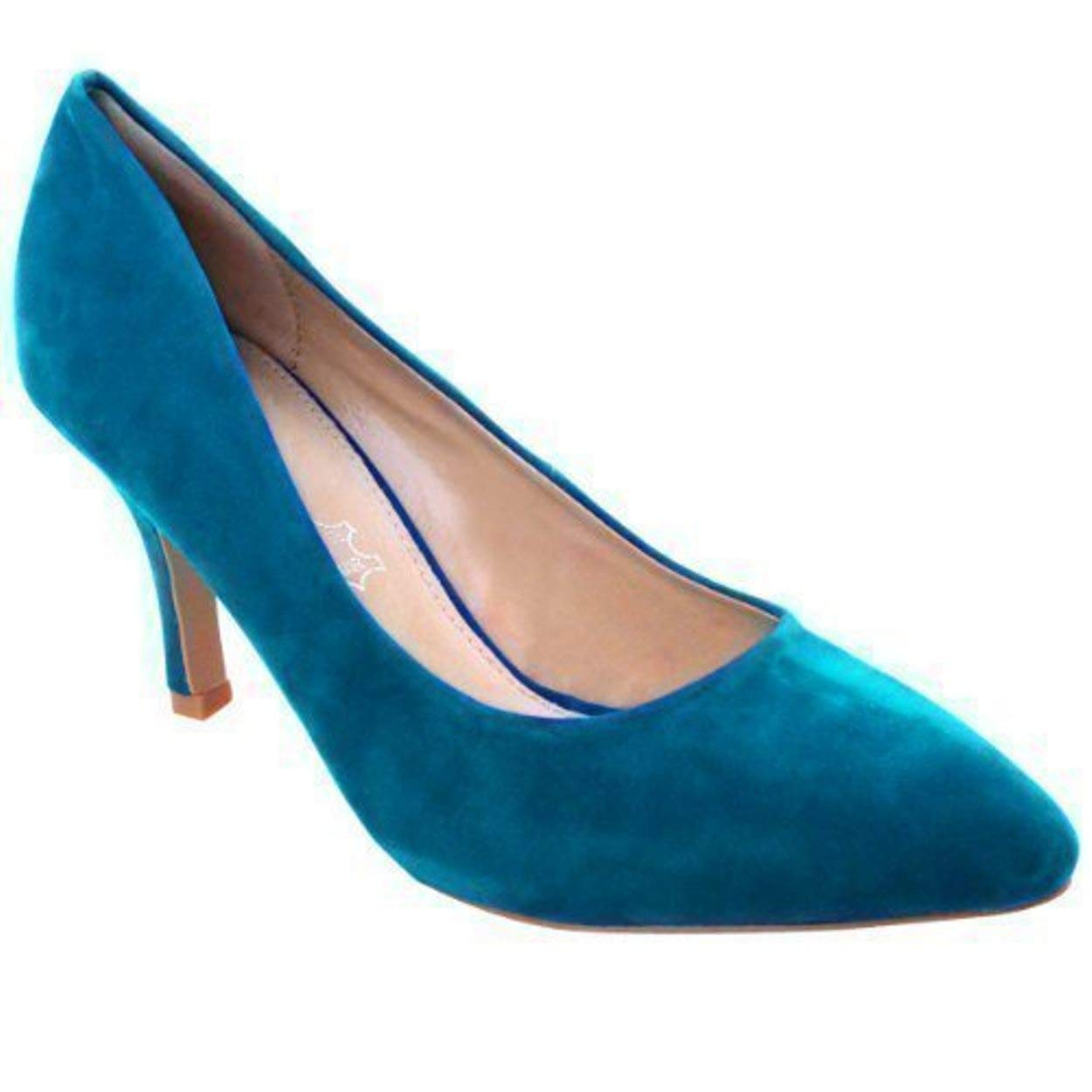 aaf277faa76c WOMENS LADIES LOW MID HIGH KITTEN HEEL PUMPS POINTED TOE WORK COURT SHOES  SIZE  Amazon.co.uk  Shoes   Bags