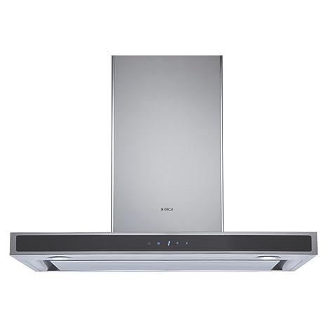 Elica 90 cm 1010 m3/hr Deep Silent Chimney (TRIM EDS HE LTW 90 TC4V LED, 1 3D Filter, Touch Control, Steel/Grey)