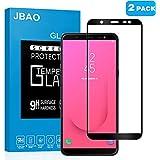 [2-Pack] Samsung Galaxy J8 2018 Screen Protector,Jbao Direct Full Screen Coverage Easy Installation Anti-Fingerprint Premium Tempered Glass Screen Protector for Samsung Galaxy J8 2018 (Black)