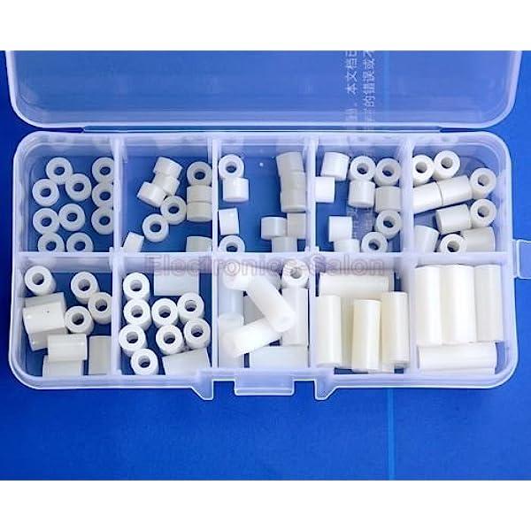 Micro Plastics 1//4 Nylon Round Spacer with 2 Screw Size Black; PK10-13SP005B-Pack of 20