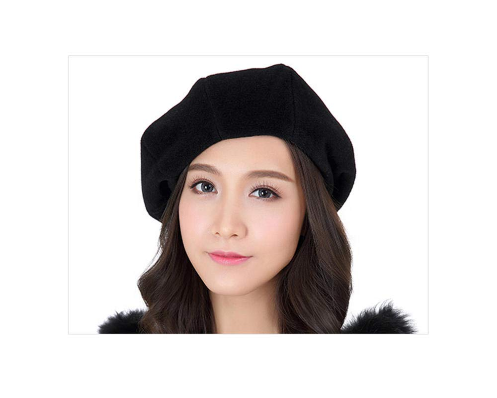 GJPSXTY Breathable Comfort Women's Spring Summer Fashion Casual Shade Beret, M, Black