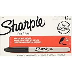 Sharpie Permanent Marker, Black, 12 Count