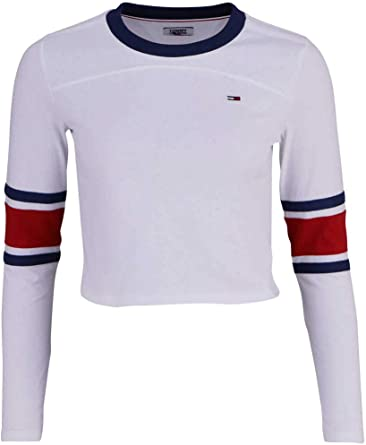 Tommy Hilfiger Cropped Camisa, Blanco (Classic White 100 ...