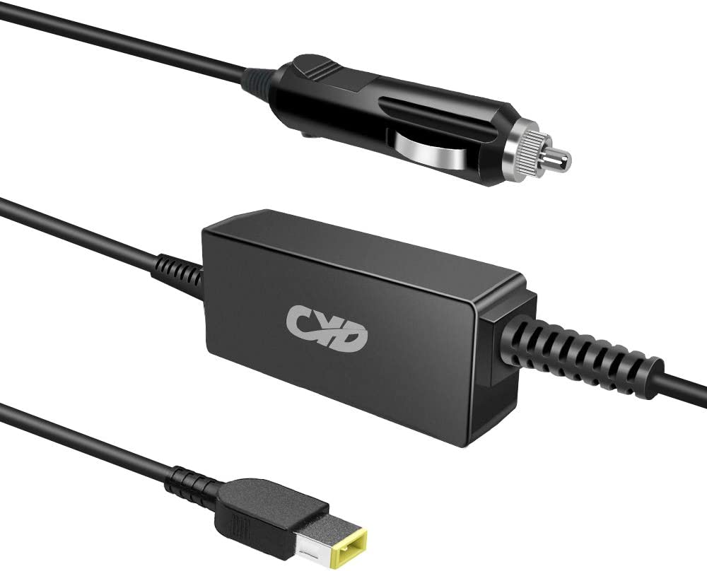 CYD Laptop car Charger 65w Replacement for Lenovo Yoga 300-11 Edge 15 80h1 thinkpad t470 ideapad v110-15isk thinkpad x1 Carbon 3rd Generation 14in 3.3ft Notebook Power ac Adapter Supply Cord Cable